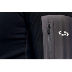 Icebreaker M's Tracer LS Zip Shirt black/monsoon